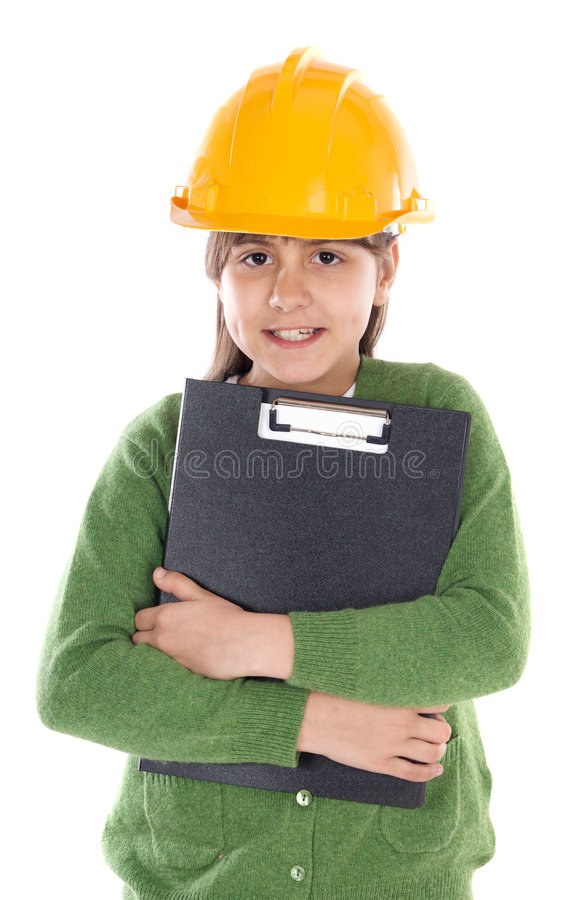 Future Engineer Girl Royalty Free Stock Images