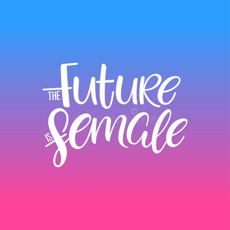 The future is female vector illustration
