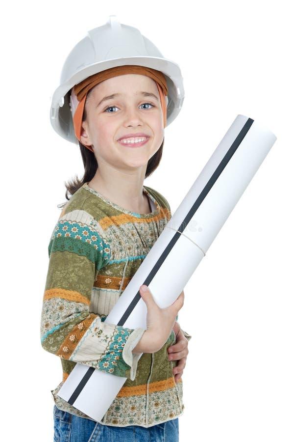 Future fille d'ingénieur images stock