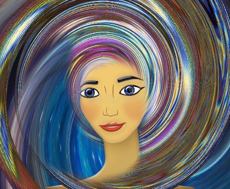 Future fille Illustration illustration de vecteur