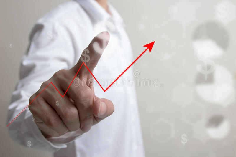 Future of financial business concept,Businessman with finance symbols. Future of financial business concept,Businessman with finance symbols coming royalty free stock photography