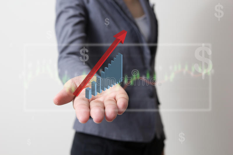 Future of financial business concept,Businessman with finance symbols. Future of financial business concept,Businessman with finance symbols coming royalty free stock images