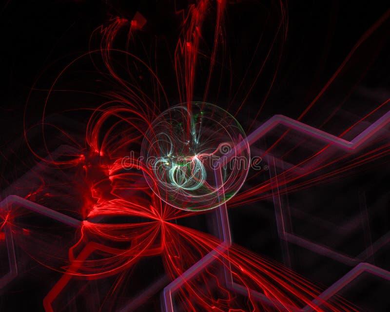 Future fractale numérique de résumé, contexte d'imagination de conception d'imagination, mystère photos stock
