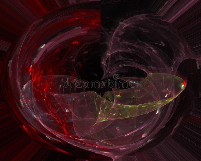 Future fractale numérique de résumé, contexte d'imagination de conception de mystère d'affiche d'écoulement de cadre, mystère photographie stock libre de droits