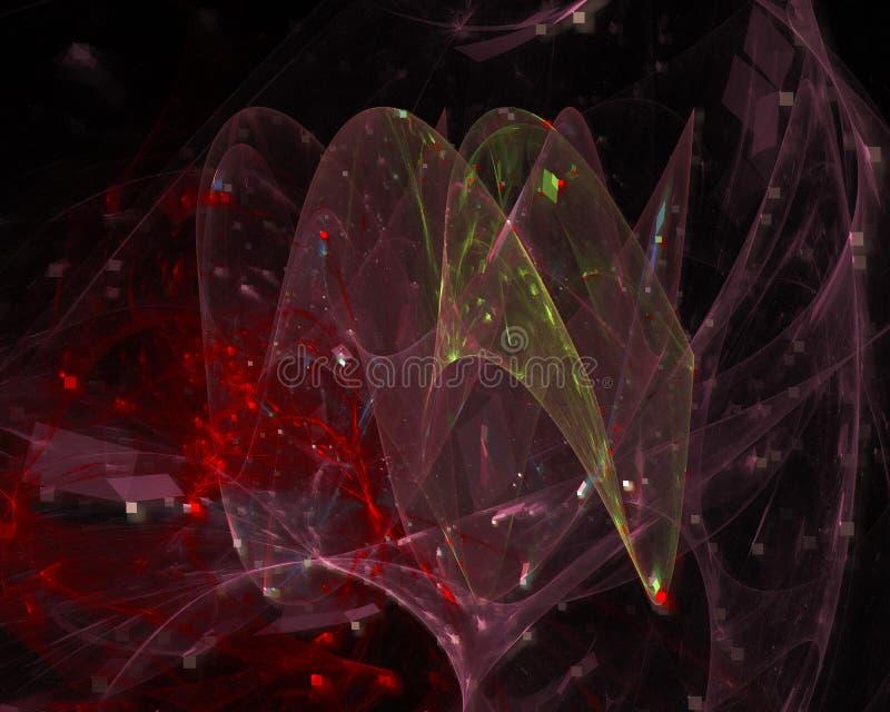 Future fractale numérique de résumé, contexte d'imagination de conception de mystère d'affiche d'écoulement de décoration de cadr photographie stock libre de droits