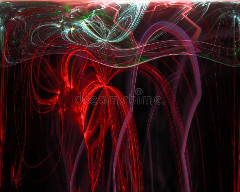 Future fractale numérique de résumé, contexte d'imagination de conception de mystère d'affiche d'imagination, mystère photo stock