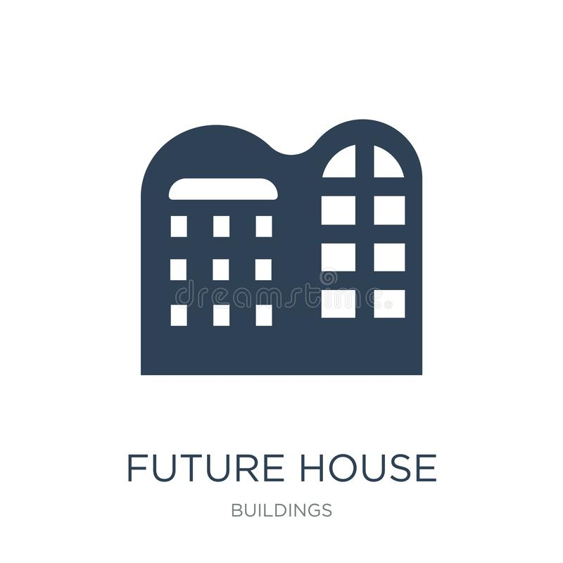 future house icon in trendy design style. future house icon isolated on white background. future house vector icon simple and vector illustration