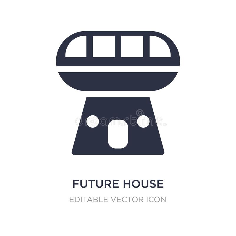 future house icon on white background. Simple element illustration from Buildings concept vector illustration