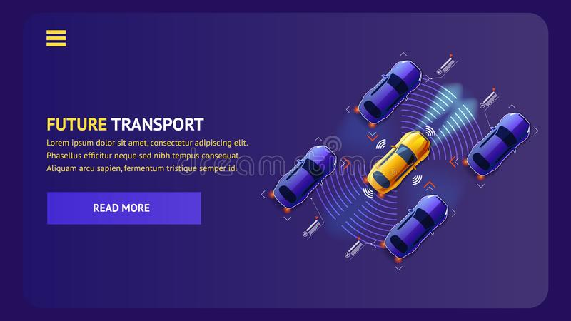 Future illustration de vecteur de transport d'innovation illustration stock