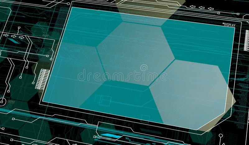 Future Interface. Background with Customizable insert area stock illustration