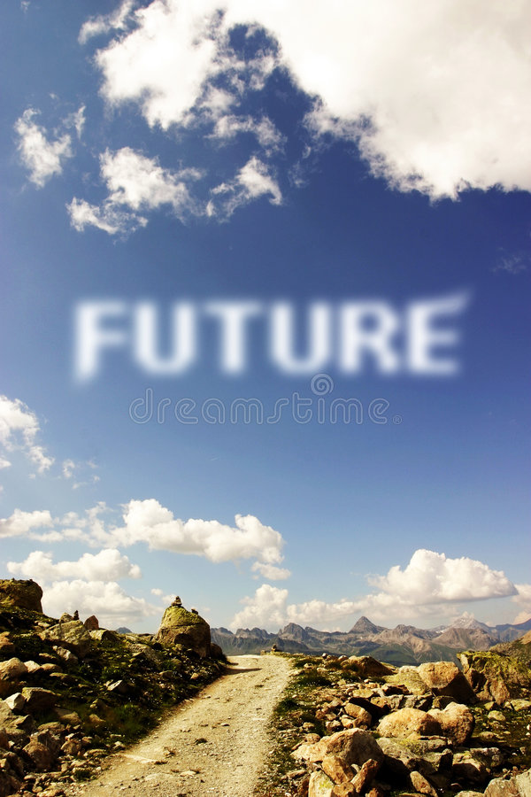 Future path stock photography