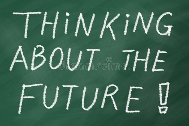 Future pensée image libre de droits