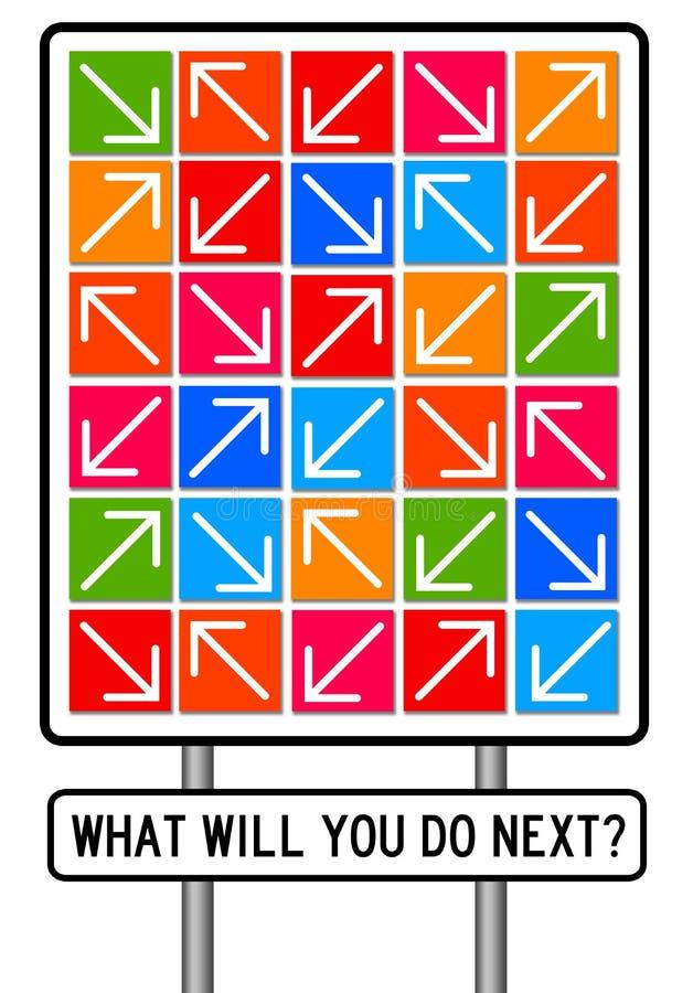 Future planification illustration libre de droits