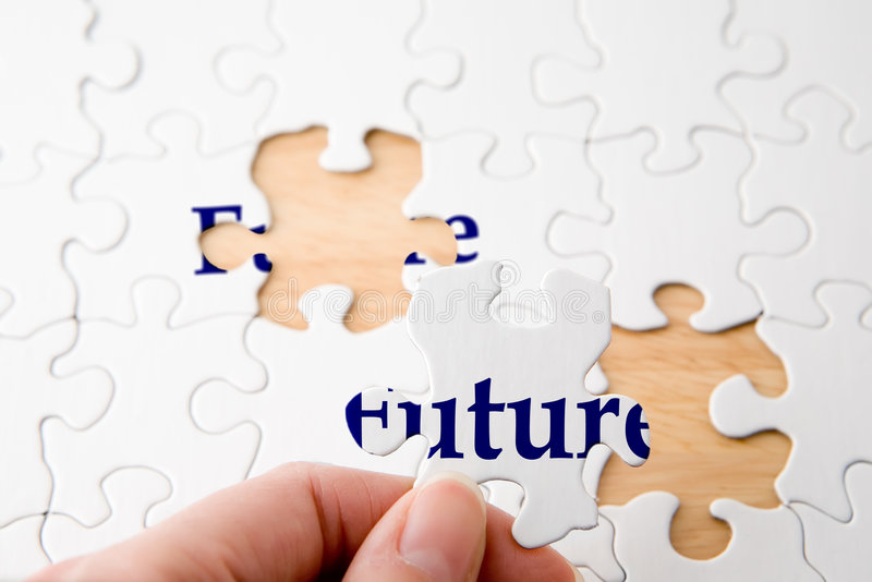 Future Puzzle royalty free stock photos
