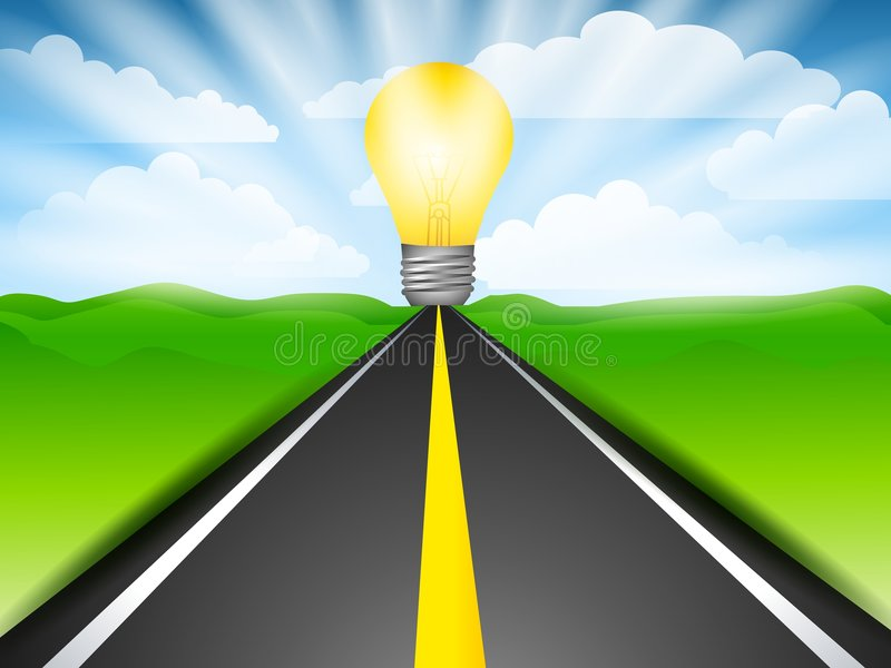 Download The Future Road To Energy stock illustration. Image of clipart - 4504421
