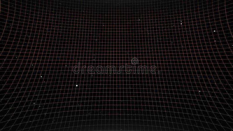 Future Sci-Fi Retro Contexte Le paysage futuriste des années 80 Surface numérique Cyber Convient au design dans le style de illustration de vecteur