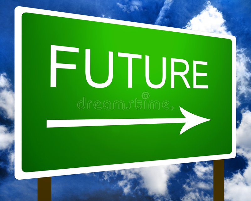 Download Future sign stock image. Image of forward, destination - 7677807
