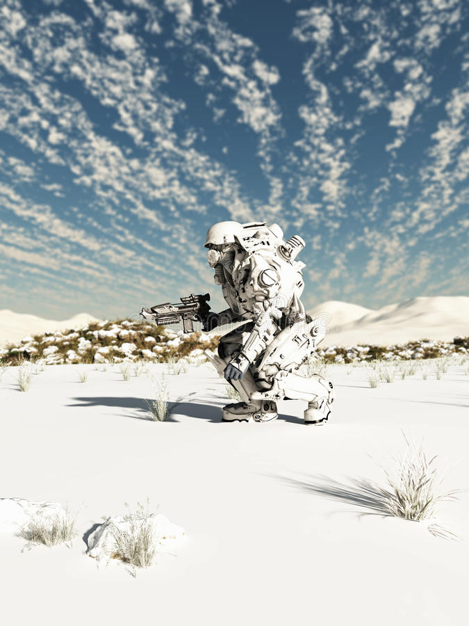 Future Soldier, Snow Patrol Stock Illustration