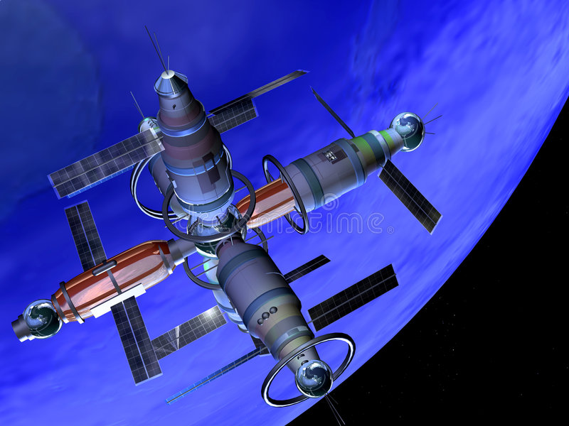 Future Space Lab stock illustration