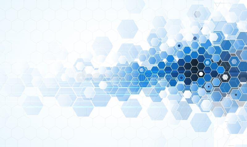 Future technologie scientifique Pour la présentation d'affaires Insecte, illustration de vecteur
