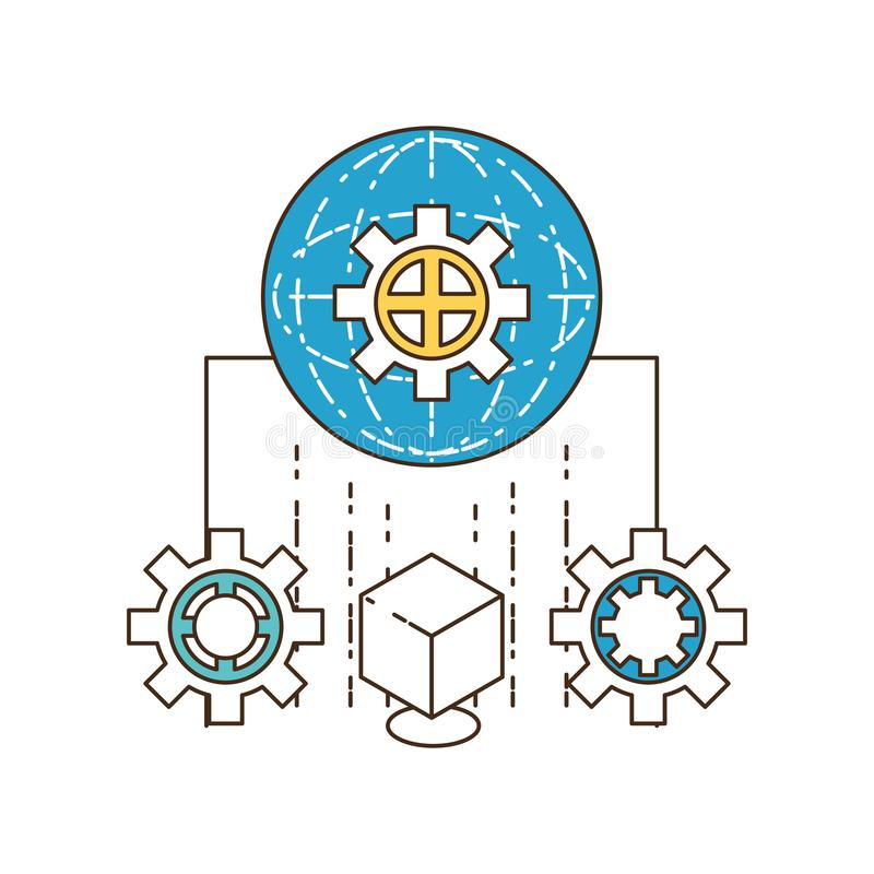 Future technologies design stock illustration