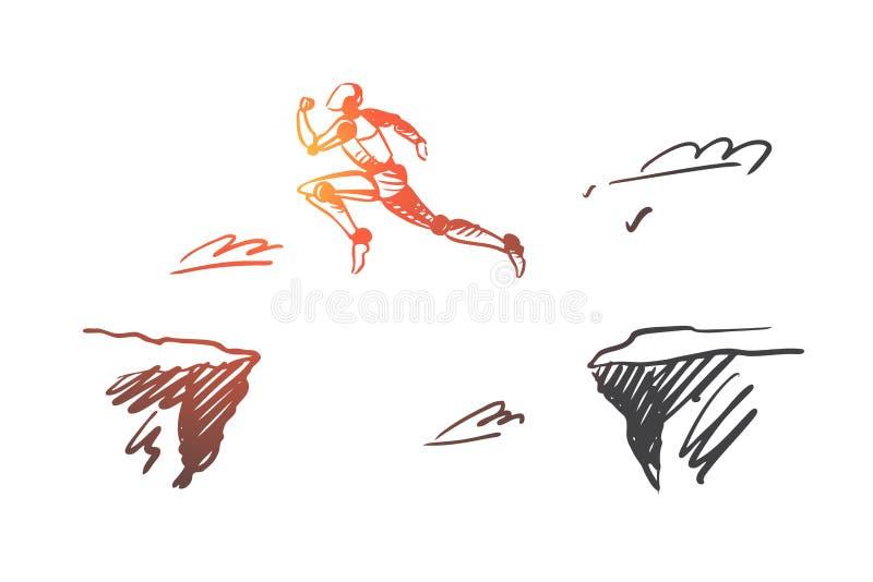 Future, technology, progress, digital, robot concept. Hand drawn isolated vector. vector illustration