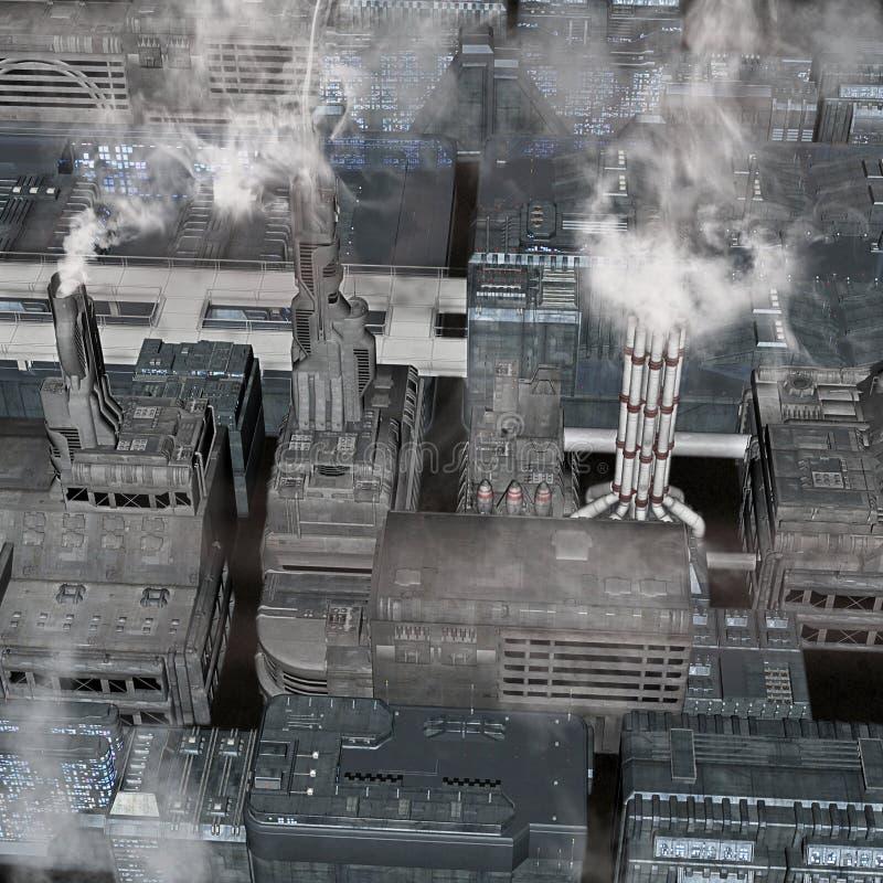 Future ville industrielle illustration libre de droits