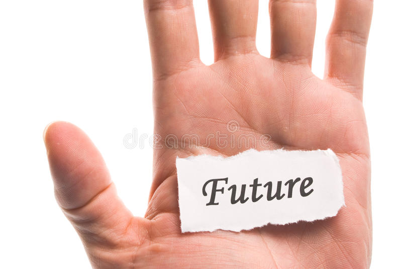 Download Future word in hand stock image. Image of commercial - 18402403