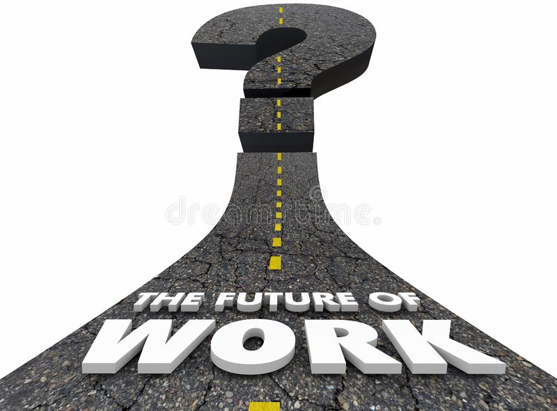 Future of Work Road Jobs Employment Moving Forward royalty free illustration