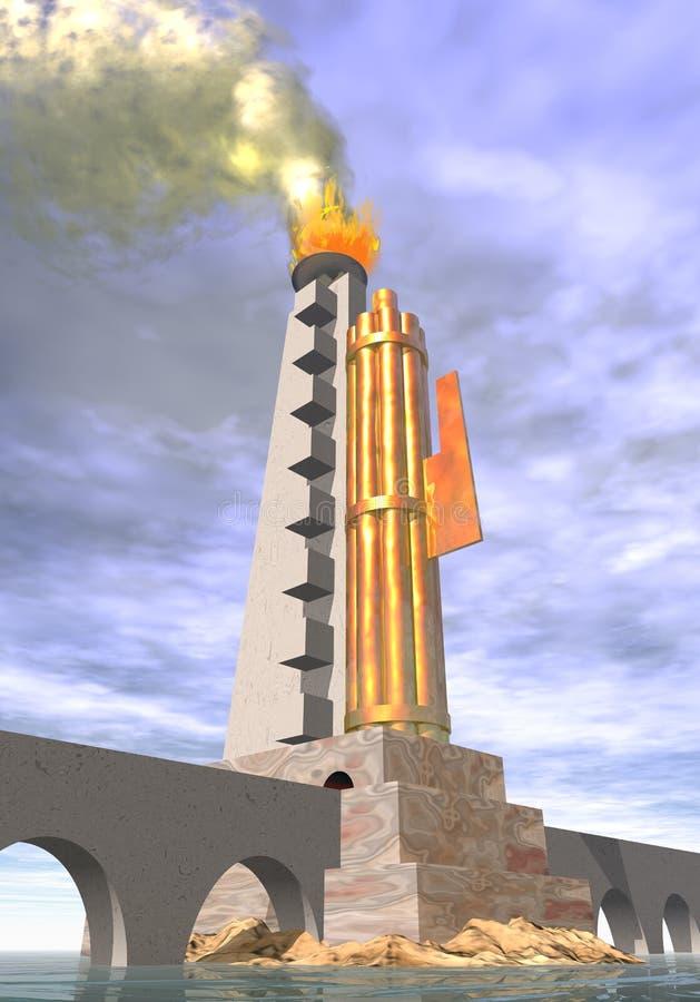Futurist and fascist architecture stock illustration