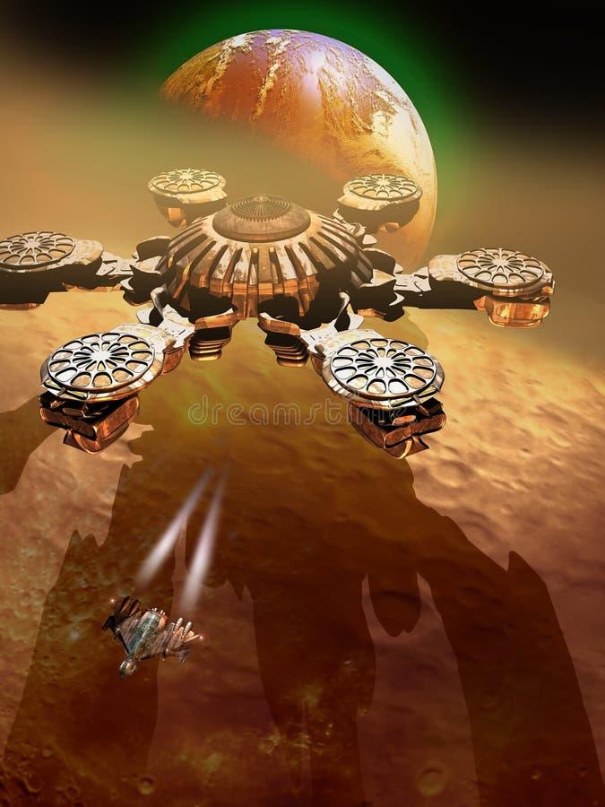 Futurist ISS royalty free illustration