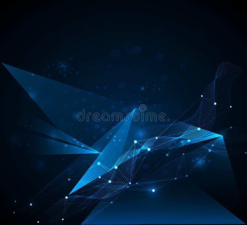 Futurista abstracto - fondo de la tecnología de las moléculas ilustración del vector