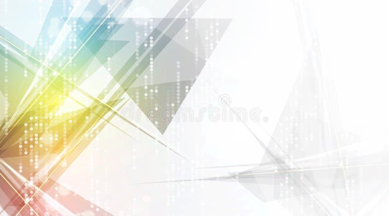 Futurista abstrato desvanece-se fundo do negócio da informática  ilustração do vetor