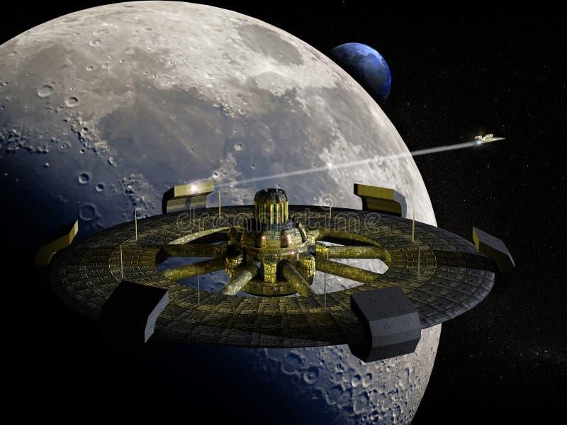 Futurista ISS illustrazione vettoriale