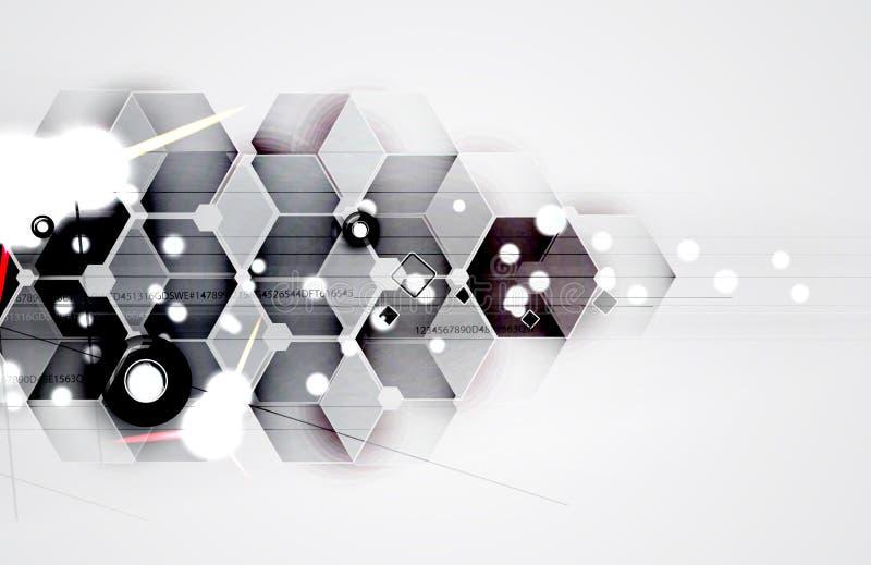 Futuristas abstractos se descoloran fondo del negocio de la informática fotografía de archivo