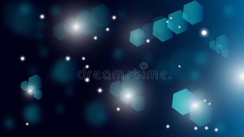 Futuristic abstract background motion graphic illustration, Geometric with lines of movement with hexagons and dot,concept vector illustration