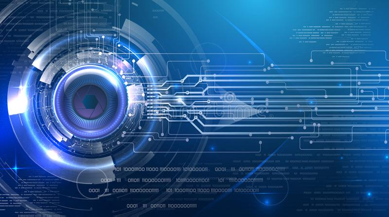 Futuristic abstract cyber eye royalty free stock images