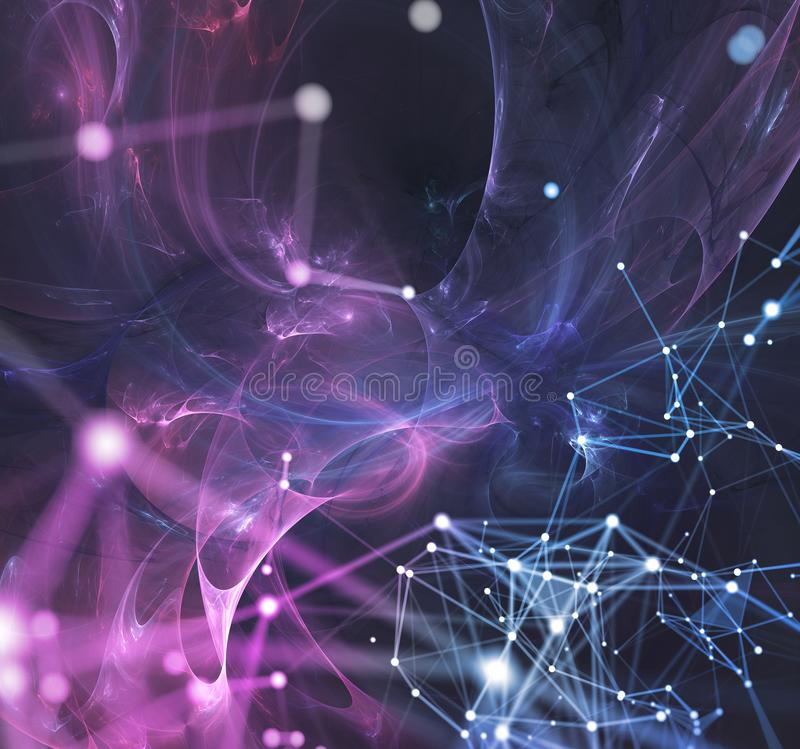 Abstract internet connection network background with motion effects. Futuristic abstract internet connection network background with motion effects royalty free illustration
