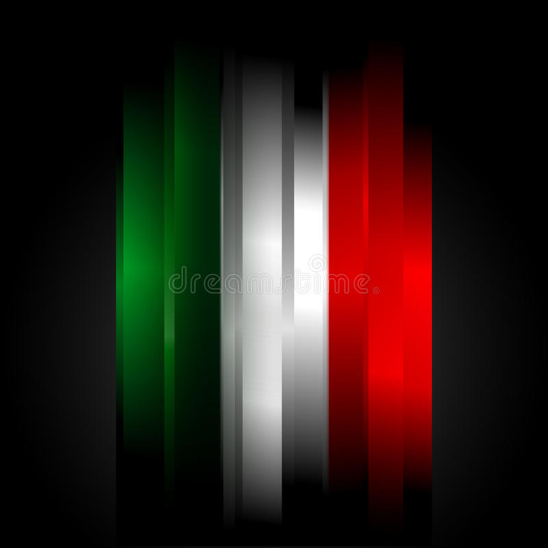 Futuristic abstract in Italian flag colors stock illustration