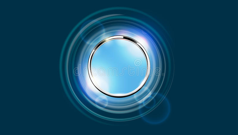 Futuristic abstract metal ring background royalty free illustration