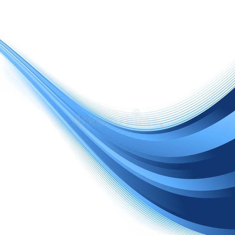 Futuristic abstract rising swoosh blue wave royalty free illustration