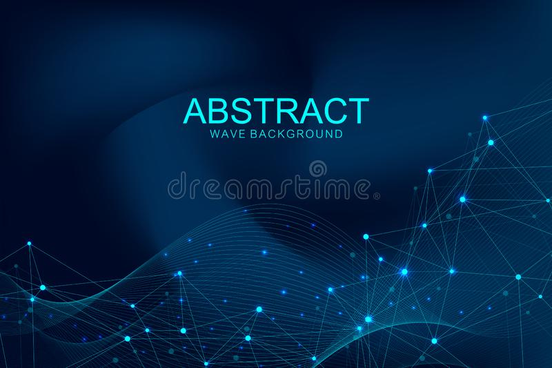 Futuristic abstract vector background blockchain technology. Deep web. Peer to peer network business concept. Global royalty free illustration