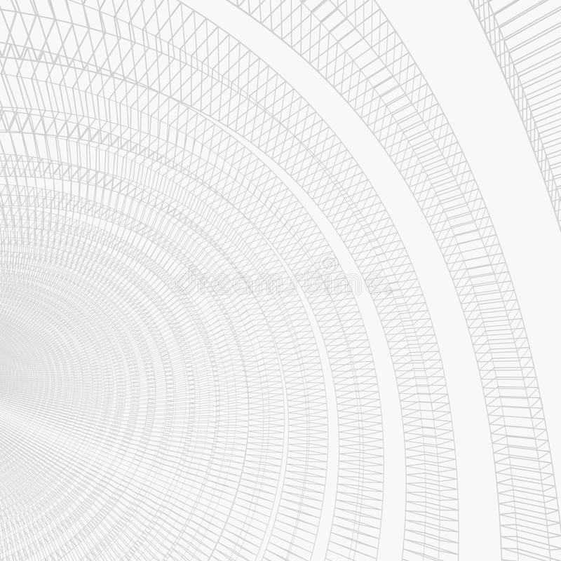 Futuristic white background. Futuristic abstract white background. 3D Rendering royalty free illustration
