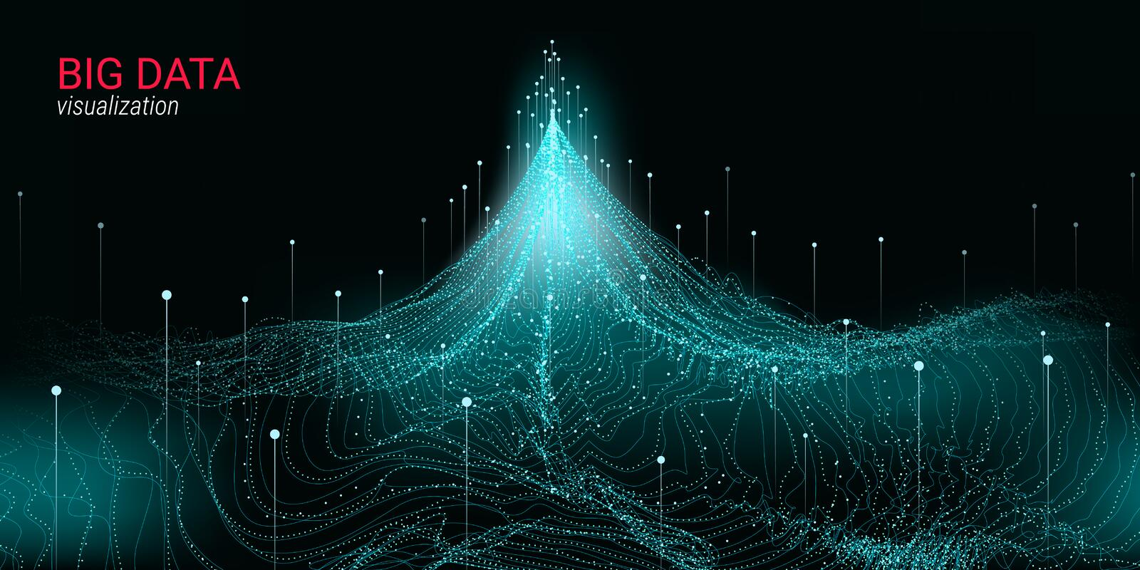 Futuristic Abstraction. Big Data Visualization. royalty free illustration