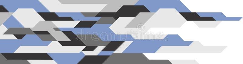 futuristic abstrakt bakgrund geometrisk modell Teknologibakgrund Bl?a skuggaf?rger stock illustrationer