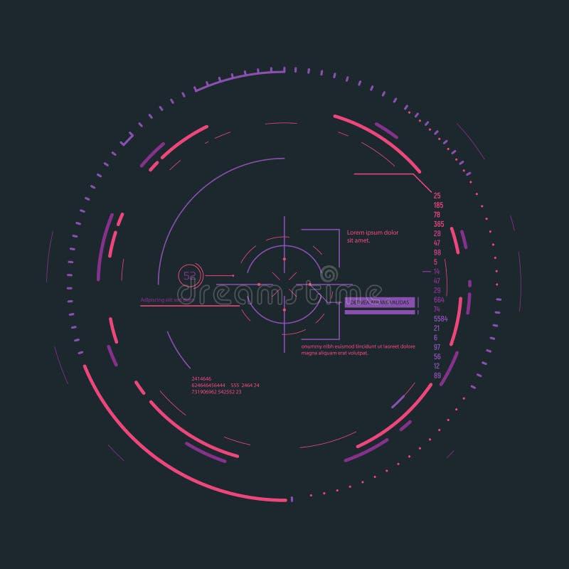 Futuristic aiming system royalty free illustration