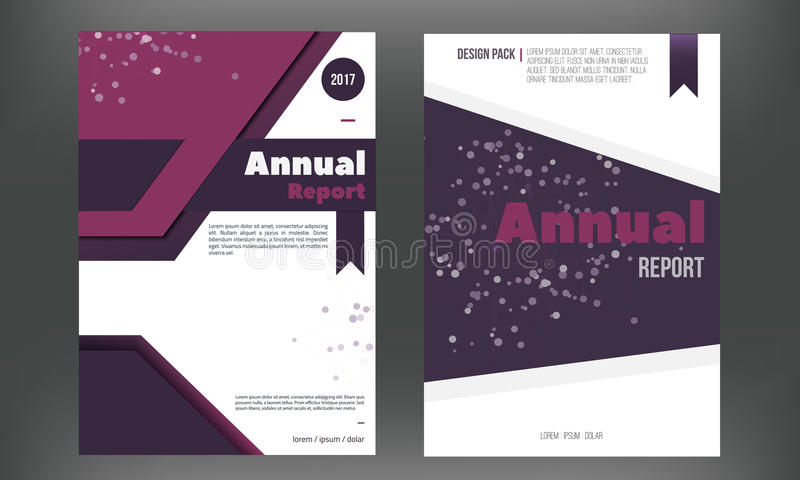 Futuristic Annual Report Cover Set Brochure Or Flyer Template In A4