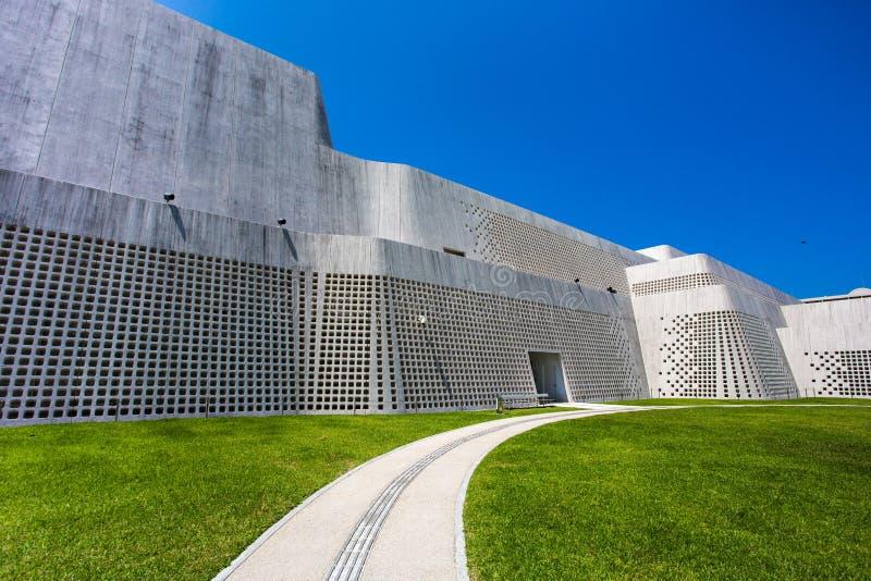 Futuristic & Artistic Building royalty free stock photo