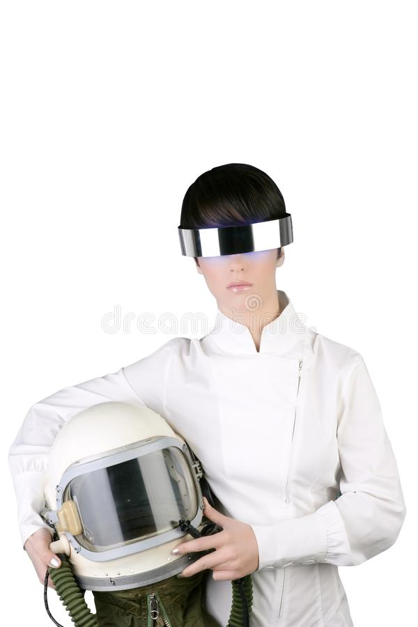 Download Futuristic Astronaut Helmet Woman Stock Photo - Image: 15693258