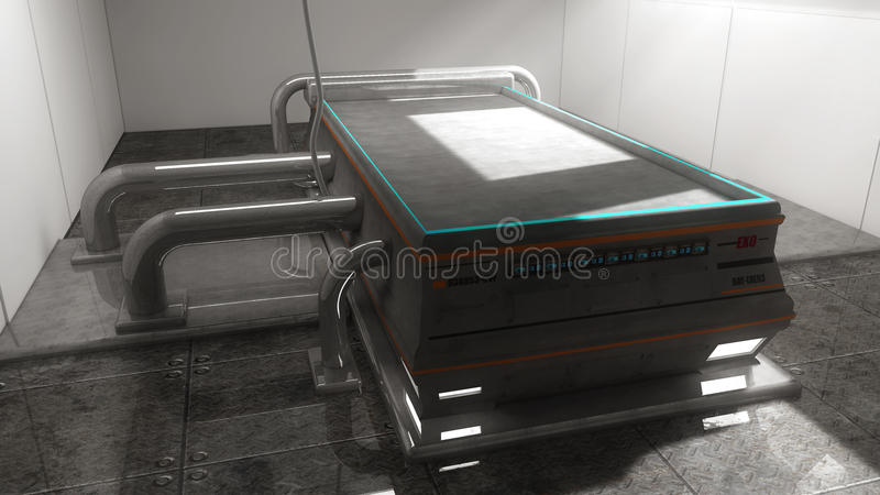Futuristic autopsy table royalty free stock images